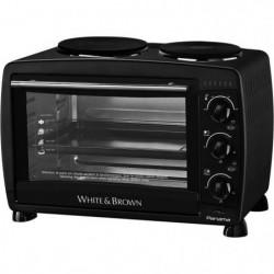 WHITE & BROWN MF 286-Mini four avec plaques de cuisson