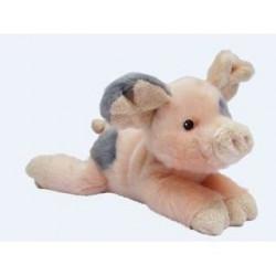 NICOTOY Peluche Cochon couché - 20 cm