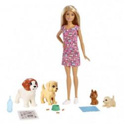 BARBIE - Barbie & ses Chiens - Coffret Poupée