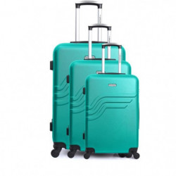AMERICAN TRAVEL Set de 3 Valises queen Vert