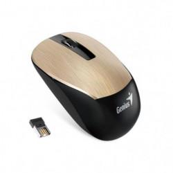 Genius Souris Sans fil optique NX-7015 Or Métal 1600DPI 2.4 GHz