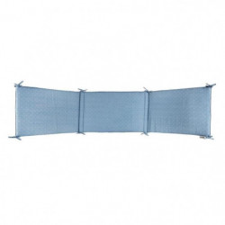 NATTOU - Pure Bleu Tour de lit coton 180x40cm