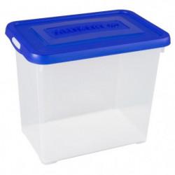 ALLIBERT Boîte de rangement Handy - Couvercle bleu - 9 L