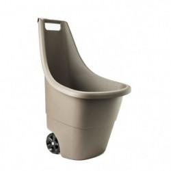 KETER Chariot de jardin Easy Go Breeze - 50 L - Taupe