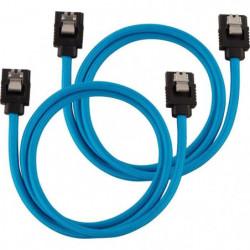 CORSAIR Câble gainé Premium SATA 6Gbps Bleu 60cm Droit