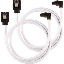 CORSAIR Câble gainé Premium SATA 6Gbps Blanc 60cm 90°
