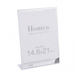 Porte-photo à poser Homea 14,8x21 cm transparent