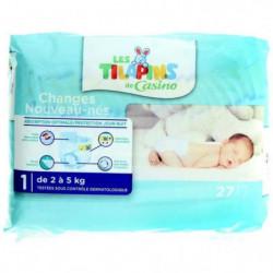 LES TILAPINS Couches Nouveaux nés - Taille 1 - 2 à 5kg