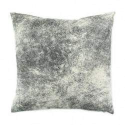 Coussin Havane aspect cuir vieilli - 40 x 40 cm - Blanc