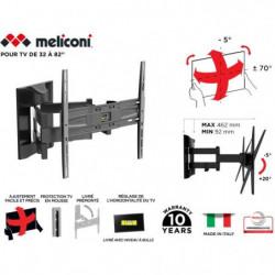 MELICONI 480866 Support mural TV pantographe Slim 400 SDRP