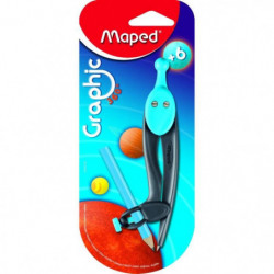 MAPED - Compas Graphic 360° - Crayon + bague universelle