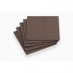 MEISTER Patin en feutre brun 200x200 mm 5 pieces