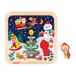 JANOD Puzzle chunky La magie de Noël - 5 pieces