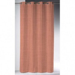 Rideau a oeillets 140x280 cm en Lin lavé - Corail