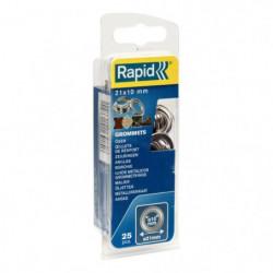 RAPID 25 oeillets de renfort 10mm