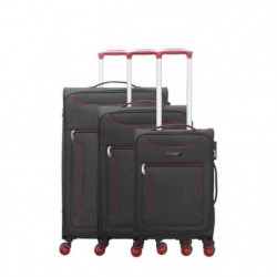 BLUESTAR Set de 3 Valises concorde Rouge