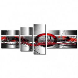ART Tableau Multi Panneaux  abstrait 160x60 cm