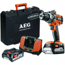 AEG POWERTOOLS Perceuse percu 18V Brushless, 1 x 4Ah & 1 x 2Ah
