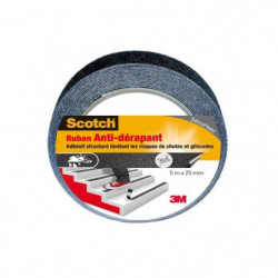 3M SCOTCH Ruban antidérapant - 5 m x 25 mm - Noir