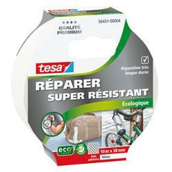 TESA Ruban de réparation Toilé Super Résistant - 10m x 38mm