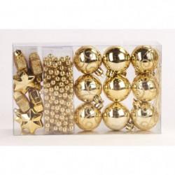 Kit de 14 suspensions de Noël en PVC - Boules, étoiles et guirlande