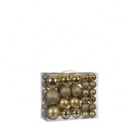 Boule incassable or 46 pieces - d8cm