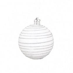 AUTOUR DE MINUIT Set de 6 boules décorées finition matte 103922