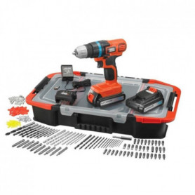 BLACK&DECKER Perceuse Visseuse 2x18V Li + 165 acc.