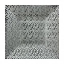 Assiette de présentation carrée pixelisée - Argent