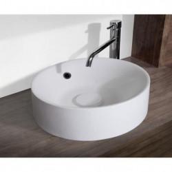 MITOLA Vasque ronde Capri 38 cm de diametre blanc mat