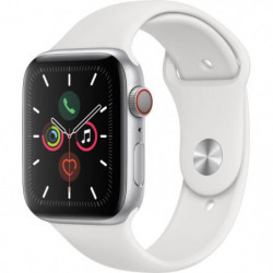 Apple Watch Series 5 Cellular 44 mm Boîtier en Aluminium Argent