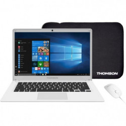 THOMSON PC Portable + Souris + Sacoche - TH14WH64MS - 14,1""