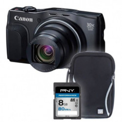 SX710 noir + sacoche + carte 8Go -  Appareil photo compact
