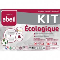 ABEIL Pack ECOLOGIQUE COTON BIO - 1 Couette 140x200cm