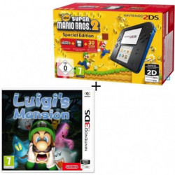 Console 2DS Bleue + New Super Mario Bros 2  + Luigi's Mansion