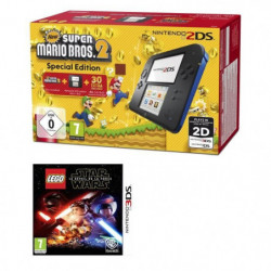 2DS Bleue + New Super Mario Bros 2 + LEGO Star Wars