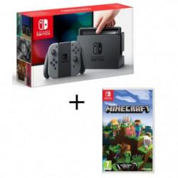 Console Nintendo Switch avec paire de Joy-Con gris + Minecraft