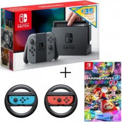 Console Nintendo Switch avec paire de Joy-Con gris + code