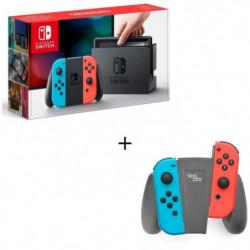 Console Nintendo Switch avec Joy-Con rouge et bleu néon + …