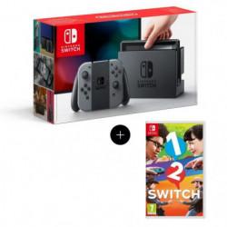 Console Nintendo Switch + Paire de Joy-Con gris + Jeu 1-2-Switch