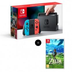 Console Nintendo Switch + Paire de Joy-Con rouge et bleu + …