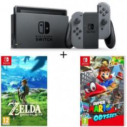 Console Nintendo Switch avec paire de Joy-Con gris + …