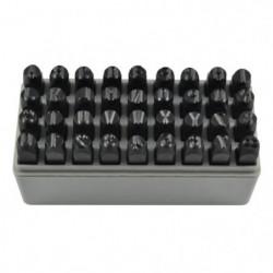 JBM Coffret lettres et numéros a frapper - 45 pieces - 8 mm