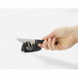EQUINOX Aiguiseur a couteau 9x5x4 cm noir