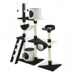Arbre à chat Paradis - 110x40x130cm - Noir et blanc
