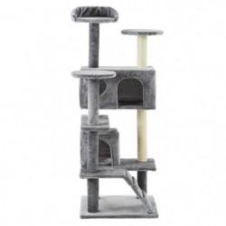 Arbre à chat Samy - 50x50x125cm - Gris