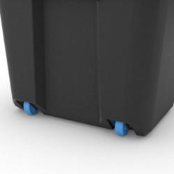 ABM Boîte de rangement - 80 L - Noir - Poignées ergonomiques