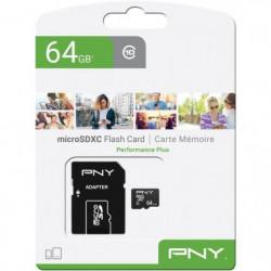 PNY Carte mémoire MicroSD 64Go Performance Plus C10