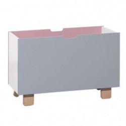 Norvege Coffre à jouets - rose/gris perle