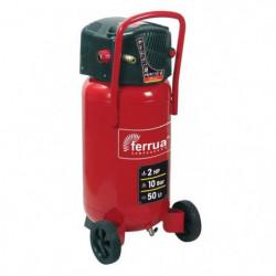 FERRUA Compresseur d'air vertical 50 L sans huile 2 CV 10 bars
